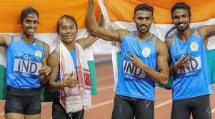 India's 2018 Asian Games mixed relay medal upgraded to gold after ...