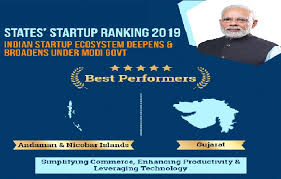Gujarat & Andaman and Nicobar Islands named best performers in State  StartUp Rankings 2019 | Hindi Examsdaily