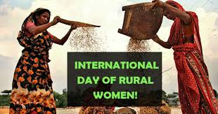 International Day of Rural Women is observed on 15 October